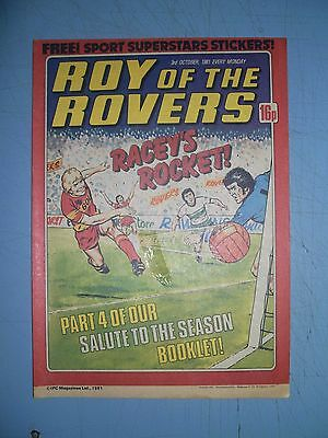 Roy of the Rovers issue dated October 3 1981