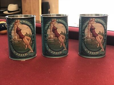 Deep Eddy Vodka Tin Cups set of 3
