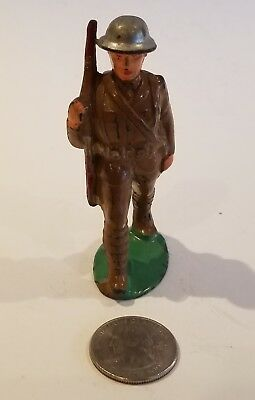 Manoil Barclay Hollowcast Metal Lead Dimestore Toy Soldier W/backpack Rifle M99