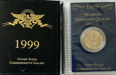 1999 Statehood Quarter Collection Uncirculated Coins 25 5 Coin Complete Set Pack
