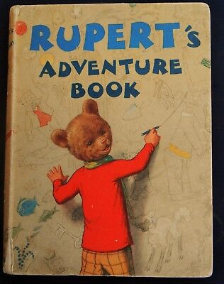 Superb Vintage Original 1940 Rupert Bear Annual