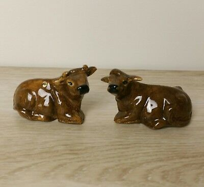 Vintage Salt And Pepper Shakers Cow Bull Retro Kitsch