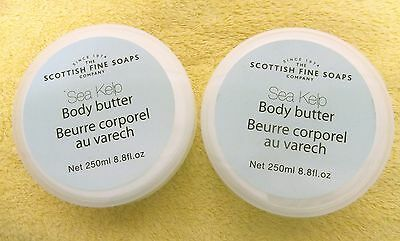 SCOTTISH FINE SOAPS SEA KELP BODY BUTTER X2 250ml TUBS ]