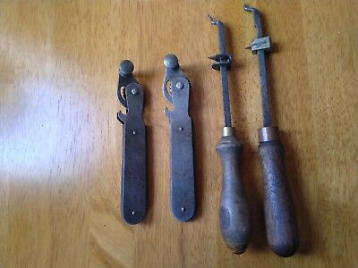 4 x Old Vintage Tin Can Openers