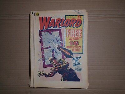 Warlord mixed lot issues 2 to 14 from 1975