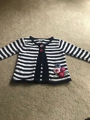 JoJo Maman Bebe Striped Girls Cardigan - 12-18 Months