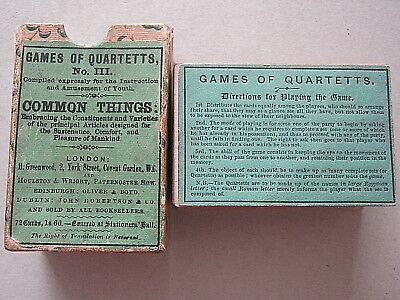 Common Things Very Rare Georgian Antique Playing Card Game 68 Cards 1830 - 40