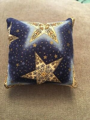 Handmade square mini pillow cat toy with catnip gift pet Cotton stars