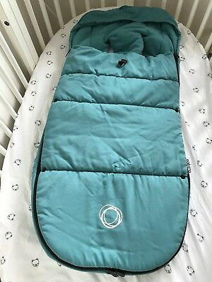 Bugaboo footmuff - Petrol blue and in good condition