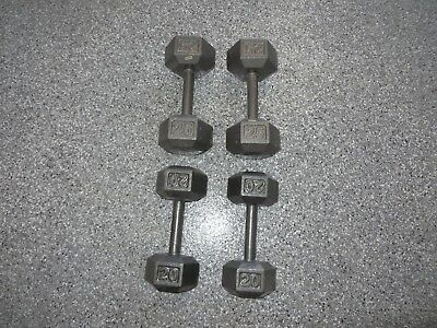 Dumbell Set - 2 X 25 And 2 X 20Lb Brand New