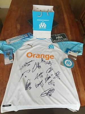 Genuine Club Issued, Squad Signed, Olympic Marseille Home Shirt + Official...