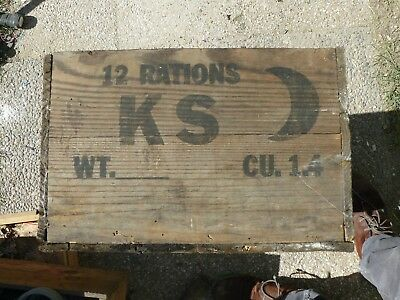 militaria ancien ww1 WW2 ARMEE caisse 12 ration rationement