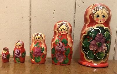 Set of 5 Matroshka/Nesting Dolls