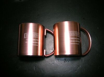 New old stock Smirnoff Vodka Copper Moscow Mule Mug set