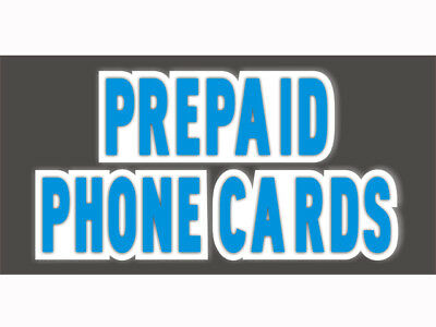 Bn0558 Prepaid Phone Call Cards International Top-Up Long-Distance Banner Sign