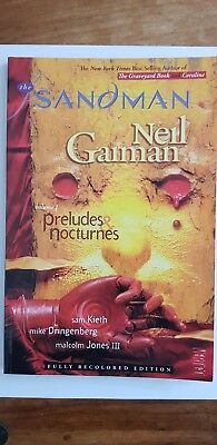 The Sandman Volume 1 - By Neil Gaiman Comic/Graphic novel. Prelude and Noctures