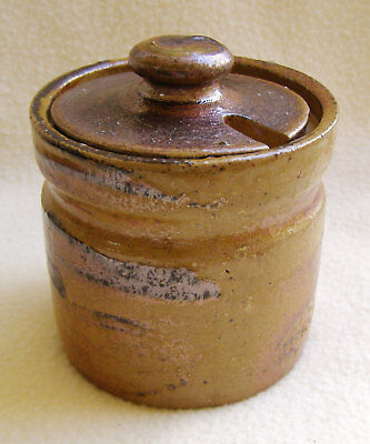 Bendigo Pottery Epsomware sugar bowl with lid