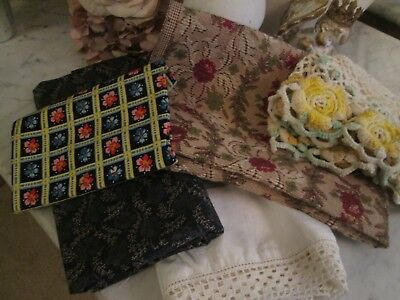 Ant & Vitg Lot of Material Great for Sewing Pillows, Table Runners, Doll Clothes