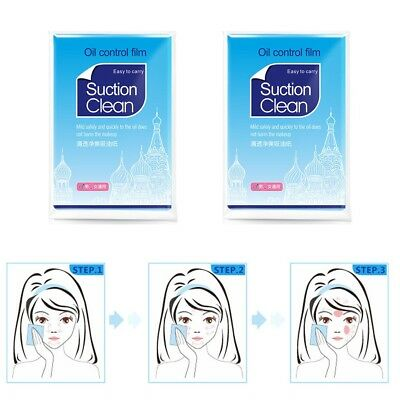 >600 Sheets Face Absorption Oil Film Tissues Makeup Control Blotting Papers UK