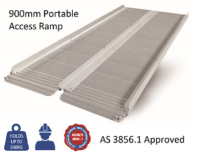 Portable 900mm Aluminium Folding Loading 300Kg Wheelchair Ramp RRP$199