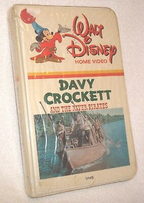 Davy Crockett and the River Pirates VHS Walt Disney (New Old Stock)