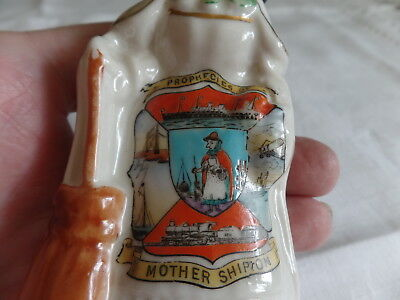 Rare Crested China Early Mother Shipton Prophesies Figurine Old Mother Shipton