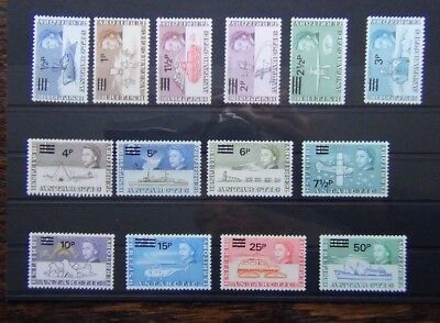 British Antarctic Territory 1971 set complete 50p on 10s MNH SG24 - SG37