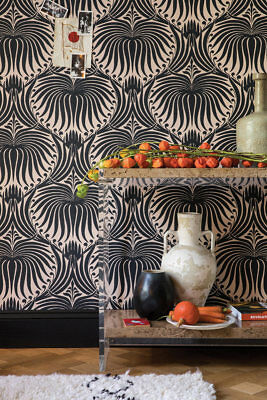Farrow and Ball 100% Finest Ingredient Painted Wallpaper Lotus BP2063 Knockout
