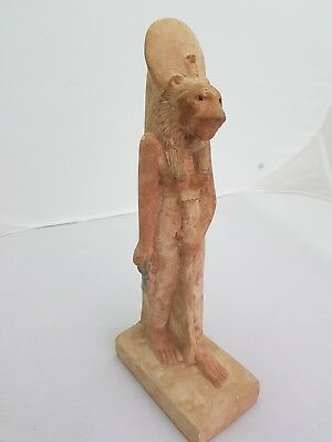 RARE ANCIENT EGYPTIAN ANTIQUE SEKHMET Statue With Life Key In Hand 1390-1352 BC