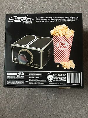 Smartphone Projector 2.0 Cinema In A Box Preassembled Fits Iphones Luckies