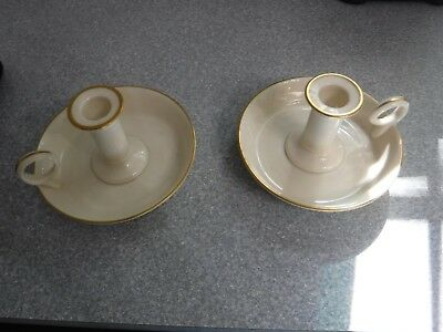 Lenox  Gold Trimmed Candle Holders