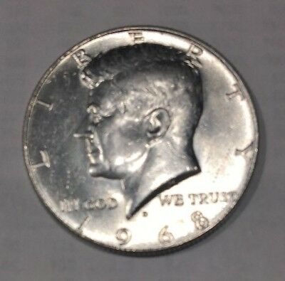 Compare this 1968 D Kennedy Half Dollar   *40% SILVER*   **FREE SHIPPING**