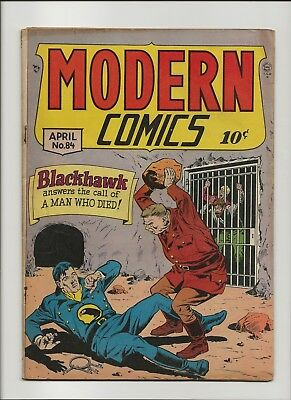 Modern Comics 84 VG 4.0 Blackhawk Bill Ward Torchy GGA 1st 36 Pager 1949