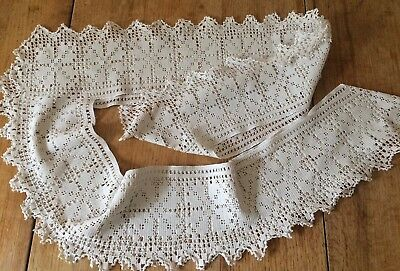 Complete Lace Edging Border From Vintage Tablecloth