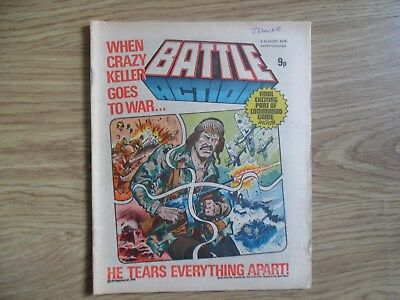 Battle Action Comic 5Th August 1978 - Ipc Magazines Final Part Of Commando Game