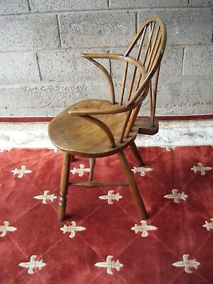 Antique Georgian Windsor stick back chair. Thames valley.