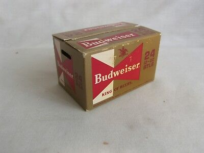 Vtg. Budweiser King of Beers 2 pk.Sealed Playing Cards With Box- 1960's Complete