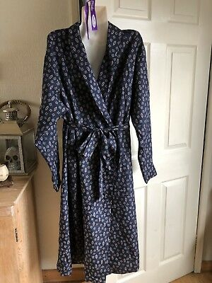 Mens Vintage M&s Dressing Gown  /smoking Jacket Sz L