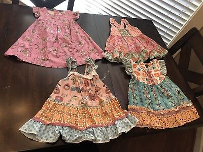Lot Of 3 Matilda Jane Size 4 Tops And 1 Pearl Dress