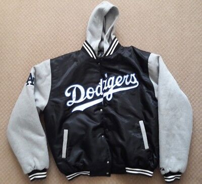 Official MLB Majestic Athletic Los Angeles Dodgers Hooded Jacket Large