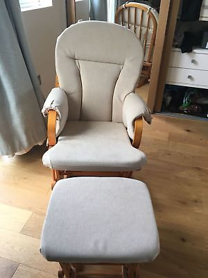 Kub Haywood rocking maternity chair with stool