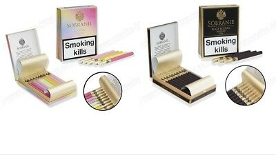 Sobranie Black Russian 100s London und Sobranie Cocktail 100s London Zigaretten