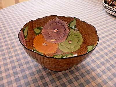 "A Stunning Art Deco Keeling & Co  ""losol"" Footed Fruit Bowl"