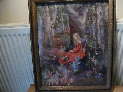 vintage art deco butterfly wing ???? picture pixies fairies