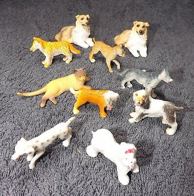 JOBLOT dolls house pets various dogs cat 1/12th scale collection of animals
