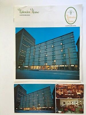 Hollenden House Hotel. Cleveland, Ohio.12 Page Brochure & (2) 8.25x3.5 Postcards