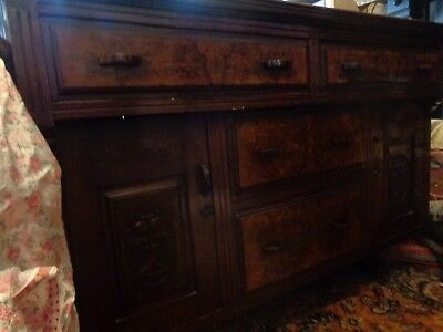 Arts and crafts walnut sideboard
