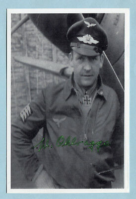 Luft Fighter Ace Knights Cross Signed Pic - Ohlrogge