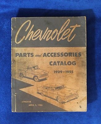 Vintage 1929 - 1955 Chevrolet Parts and Accessories Catalog Book Pickup Truck