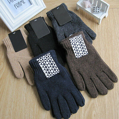 Unisex Insulated Gloves Knit Winter  Thermal Insulation Mens Womens Warmer````